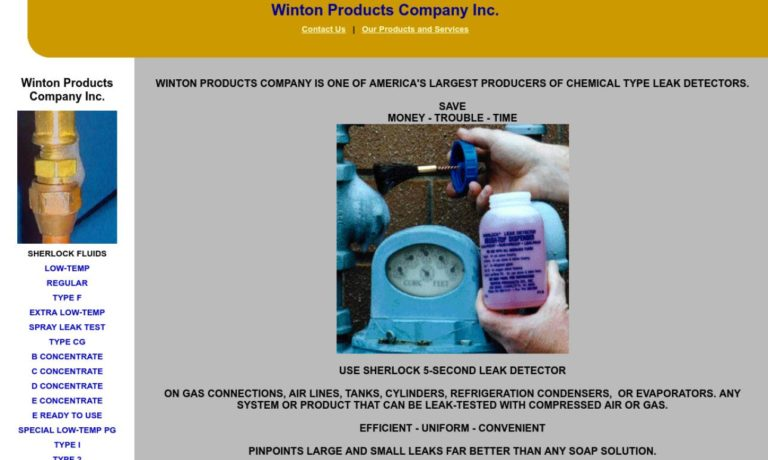 Winton Products Company, Inc.